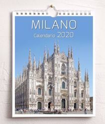 Picture of Milano 2020 wall and desk calendar cm 16,5x21 (6,5x8,3 in)
