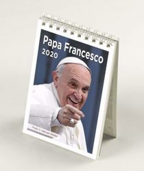 Immagine di Pope Francis 2020 desk mini calendar cm 9x13 (3,5x5,1 in)