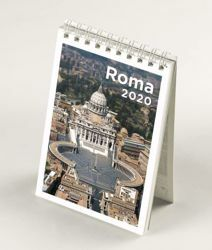 Picture of Rome Saint Peter's Basilica 2020 desk mini calendar cm 9x13 (3,5x5,1 in)
