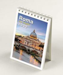 Picture of Rome St Peter 's Basilica by night 2020 desk mini calendar cm 9x13 (3,5x5,1 in)