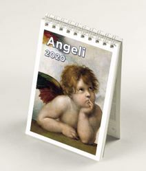 Picture of Angels 2020 desk mini calendar cm 9x13 (3,5x5,1 in)