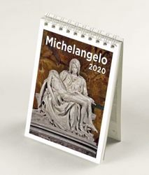 Immagine di Michelangelo 2020 desk mini calendar cm 9x13 (3,5x5,1 in)