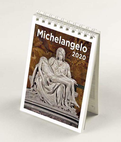 Immagine di Michelangelo 2020 desk mini calendar cm 9x13 (3,5x5,1 in)