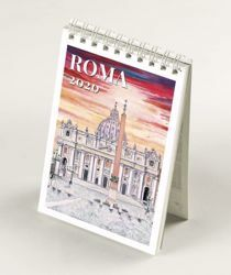Picture of Rome views in Watercolours 2020 desk mini calendar cm 9x13 (3,5x5,1 in)