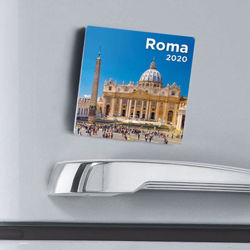 Imagen de Calendario magnetico 2021 Roma San Pietro cm 8x8