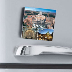 Picture of St. Peter Rome views 2021 magnetic calendar cm 8x8 (3,1x3,1 in)