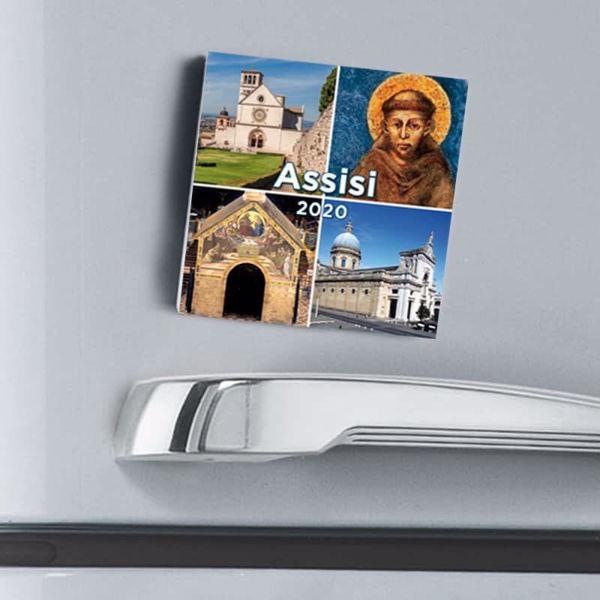 Imagen de Assisi Views 2021 magnetic calendar cm 8x8 (3,1x3,1 in)