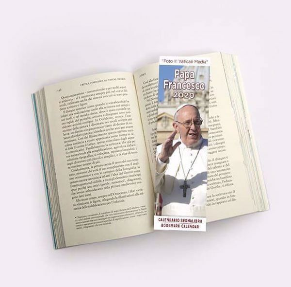 Immagine di Calendario segnalibro 2020 Papa Francesco Basilica di San Pietro cm 6x20