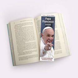 Imagen de Calendario segnalibro 2020 Papa Francesco cm 6x20