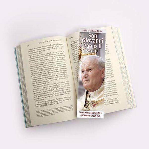 Immagine di Calendario segnalibro 2020 San Giovanni Paolo II cm 6x20