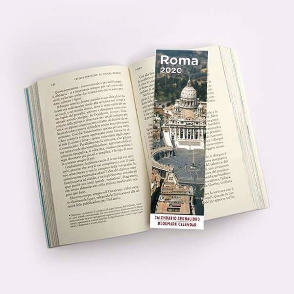 Immagine di Rome St. Peter 's Basilica 2020 bookmark calendar cm 6x20 (2,4x7,9 in)