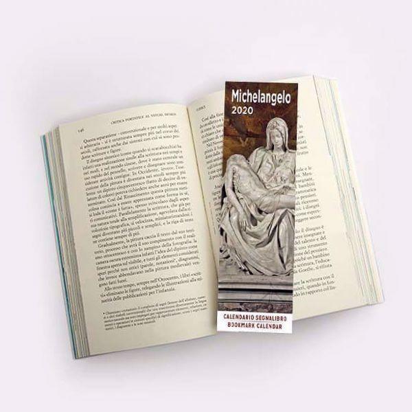 Immagine di Michelangelo 2020 bookmark calendar cm 6x20 (2,4x7,9 in)
