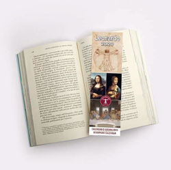 Immagine di Calendario segnalibro 2020 Leonardo da Vinci cm 6x20 + Calendario celebrazioni per i 500 anni della morte