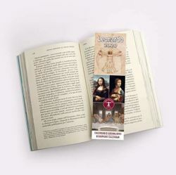Imagen de 2020 bookmark calendar Leonardo da Vinci cm 6x20 (2,4x7,9 in)