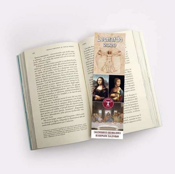 Picture of 2020 bookmark calendar Leonardo da Vinci cm 6x20 (2,4x7,9 in)
