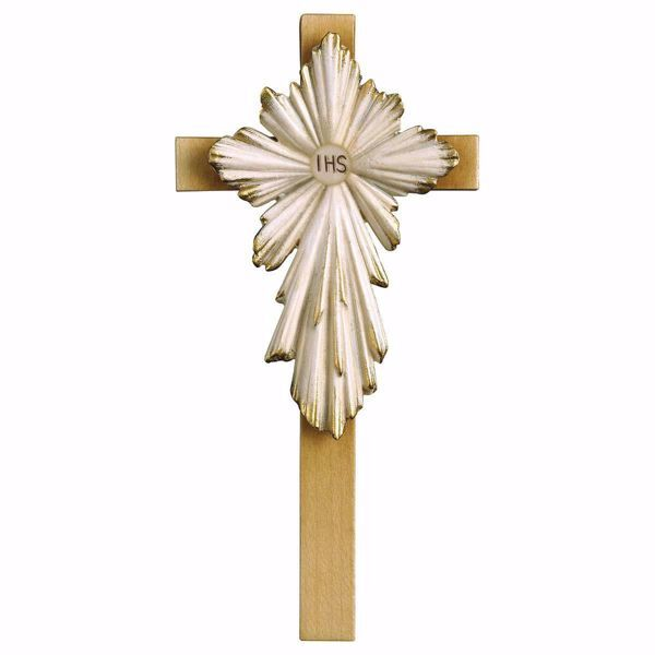 Picture of First Communion Holy Cross cm 21x10 (8,3x3,9 inch) wooden Wall Sculpture painted with oil colours Val Gardena
