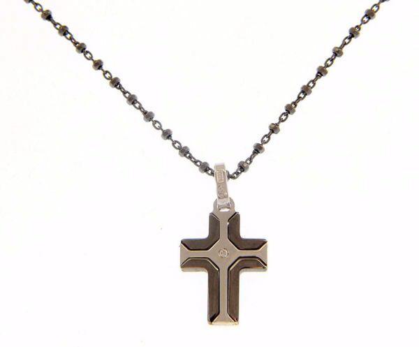 Imagen de Collar y Cruz Plata de ley 925 cm 50 para Mujer y Hombre