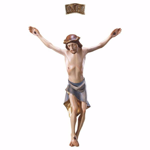 Picture of Corpus of Christ modern style body for Crucifix cm 21x17 (8,3x6,7 inch) wooden Statue painted with oil colours Val Gardena