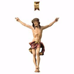 Imagen de Cuerpo de Cristo Nazareno Rojo para Crucifijo cm 21x17 (8,3x6,7 inch) Estatua pintada al óleo en madera Val Gardena