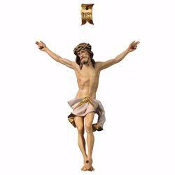 Imagen de Cuerpo de Cristo Nazareno Blanco para Crucifijo cm 37x30 (14,6x11,8 inch) Estatua pintada al óleo en madera Val Gardena