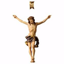 Imagen de Cuerpo de Cristo Nazareno Azul para Crucifijo cm 40x32 (15,7x12,6 inch) Estatua pintada al óleo en madera Val Gardena