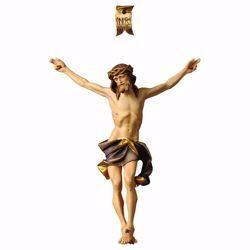 Imagen de Cuerpo de Cristo Nazareno Azul para Crucifijo cm 90x76 (35,4x29,9 inch) Estatua pintada al óleo en madera Val Gardena