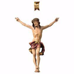 Imagen de Cuerpo de Cristo Nazareno Rojo para Crucifijo cm 90x76 (35,4x29,9 inch) Estatua pintada al óleo en madera Val Gardena