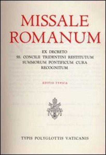 Immagine di Missale romanum ex decreto SS. Concilii Tridentini restitutum summorum Pontificum cura recognitum. Editio typica
