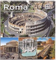 Picture of Monuments of Rome 2020/2021 wall Calendar cm 31x33 (12,2x13 in)