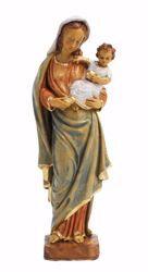 Immagine di Madonna con Bambino cm 25 (9,8 inch) Statua Euromarchi in plastica PVC per esterno