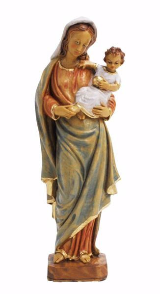 Picture of Madonna and Child cm 25 (9,8 inch) Euromarchi Statue in plastic PVC for outdoor use