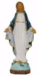 Picture of Mary Immaculate Conception cm 25 (9,8 inch) Euromarchi Statue in plastic PVC for outdoor use