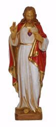 Picture of Sacred Heart cm 25 (9,8 inch) Euromarchi Statue in plastic PVC for outdoor use