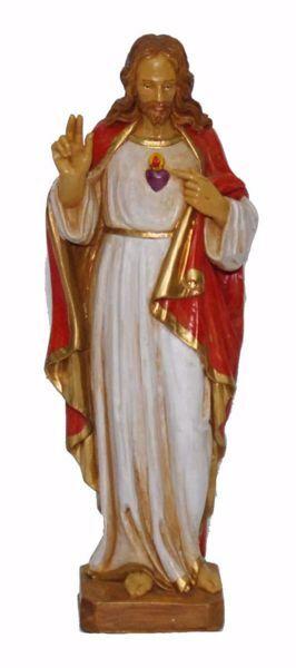 Immagine di Sacro Cuore di Gesù cm 25 (9,8 inch) Statua Euromarchi in plastica PVC per esterno