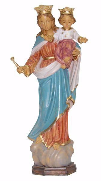 Picture of Mary Help of Christians cm 25 (9,8 inch) Euromarchi Statue in plastic PVC for outdoor use
