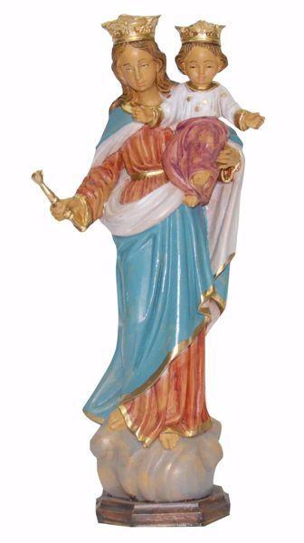 Immagine di Madonna Maria Ausiliatrice dei Cristiani cm 25 (9,8 inch) Statua Euromarchi in plastica PVC per esterno