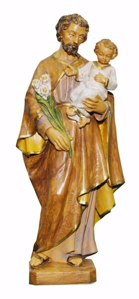 Picture of Saint Joseph cm 25 (9,8 inch) Euromarchi Statue in plastic PVC for outdoor use