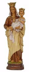 Picture of Our Lady of Mount Carmel cm 25 (9,8 inch) Euromarchi Statue in plastic PVC for outdoor use