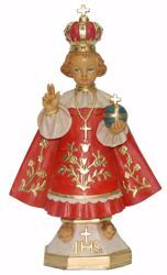 Picture of Baby Jesus of Prague cm 25 (9,8 inch) Euromarchi Statue in plastic PVC for outdoor use