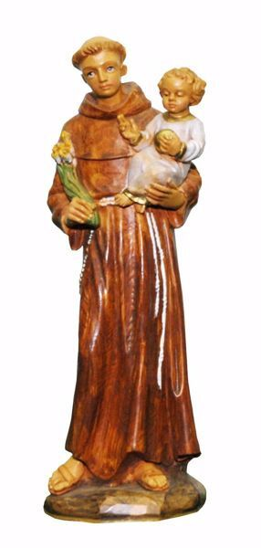 Picture of Saint Anthony of Padua cm 25 (9,8 inch) Euromarchi Statue in plastic PVC for outdoor use