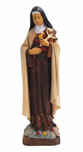 Picture of Saint Thérèse of Lisieux of the Child Jesus and the Holy Face cm 25 (9,8 inch) Euromarchi Statue in plastic PVC for outdoor use