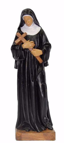 Immagine di Santa Rita da Cascia cm 25 (9,8 inch) Statua Euromarchi in plastica PVC per esterno