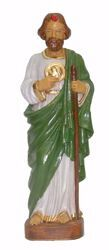 Picture of St. Jude Judas Thaddaeus the Apostle cm 25 (9,8 inch) Euromarchi Statue in plastic PVC for outdoor use
