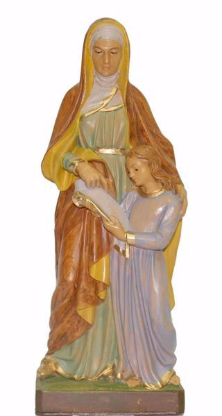 Picture of Saint Anne cm 25 (9,8 inch) Euromarchi Statue in plastic PVC for outdoor use