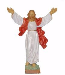Picture of Christ the Redeemer cm 25 (9,8 inch) Euromarchi Statue in plastic PVC for outdoor use