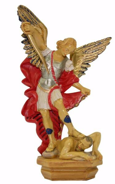 Picture of Saint Michael Archangel with balance cm 25 (9,8 inch) Euromarchi Statue in plastic PVC for outdoor use