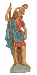 Picture of Saint Saint Christopher with Child cm 25 (9,8 inch) Euromarchi Statue in plastic PVC for outdoor use