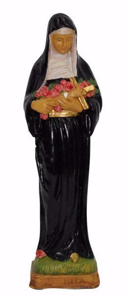 Picture of Saint Rita of Cascia cm 30 (11,8 inch) Euromarchi Statue in plastic PVC for outdoor use