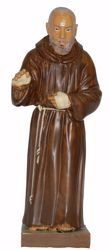 Picture of St. Padre Pio of Pietrelcina cm 30 (11,8 inch) Euromarchi Statue in plastic PVC for outdoor use