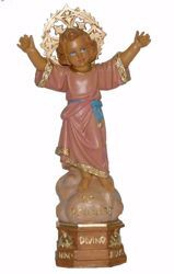 Picture of Baby Jesus standing with Aureole cm 28 (11,0 inch) Euromarchi Statue in plastic PVC for outdoor use